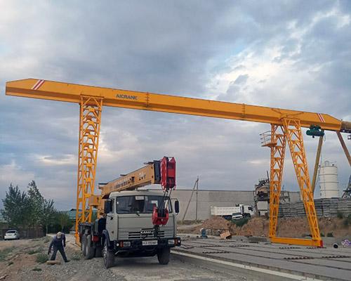 Aicrane AQ-MN10T Grua Portico Instalada En Uzbekistan